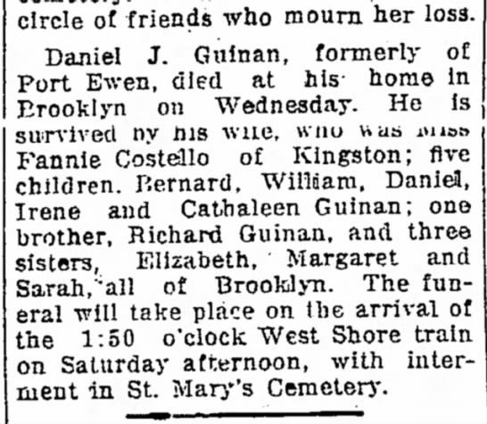 Daniel J Guinan Obituary -