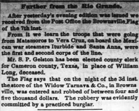 Tarnava widow robbed 1835 -