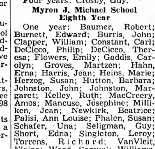 Robert Burnett graduated from Eight Year . Reported 7 July 1948 in The Kingston Daily Freeman. - students have during attendance three 198 a...