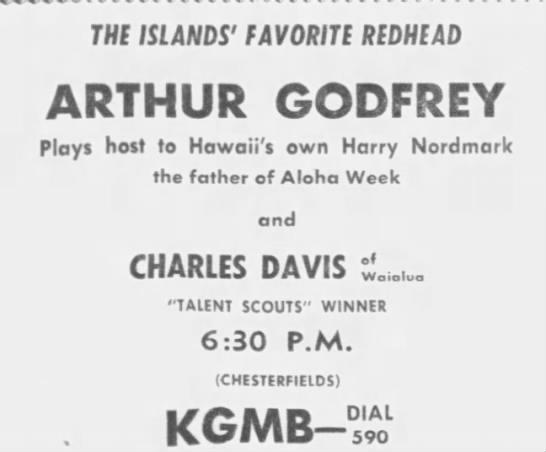 Charles Davis wins Arthur Godfrey Talent Scouts 1950 -