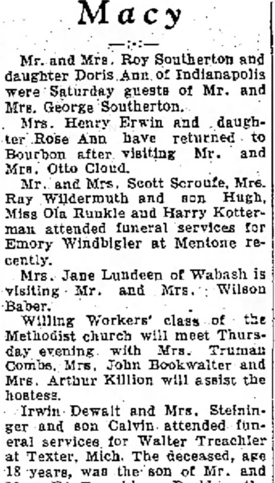 Emery Windbigler funeral -