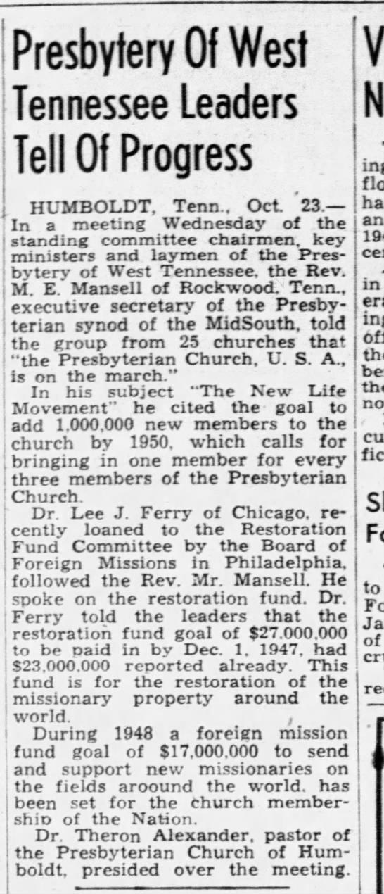 Jackson Sun 23 Octo 1947 -