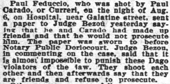 Curreri, Paul Times Picayune Article 5 Sept 1896 -