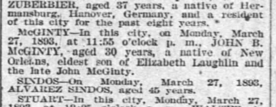 McGinty-Laughlin NO Times Picayune 2 Apr 1893 p.4 -