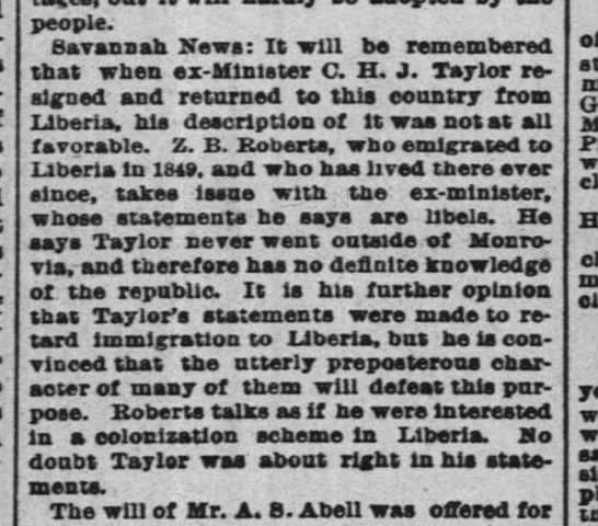 1888-05-02-TimesPicayune-p4-[TaylorNote] - people. Savannah News: It will be remembered...