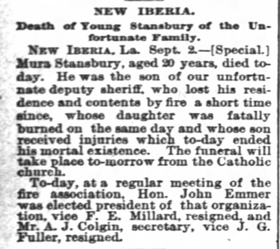 new orleans- the Times Picayune Sept 3 1889 -