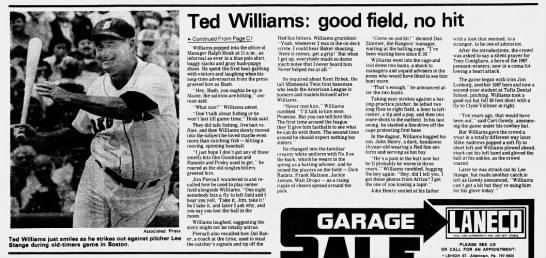 Ted Williams: good field, no hit (cont.) -