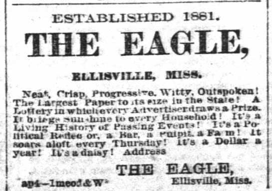 The Eagle. 1886 - ESTABLISHED 1881. THE EAGLE, KtxisviixE, ansa....