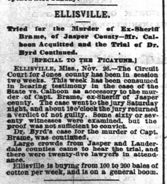 Ellisville ... is on a boom. 1883 -