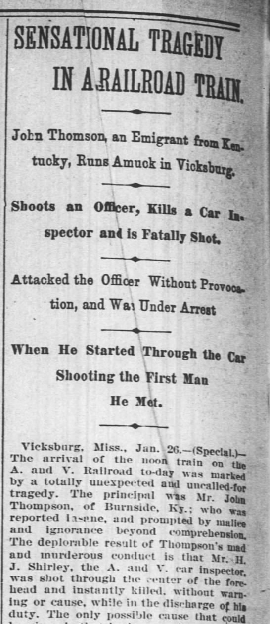 The Times-Picayune (New Orleans, Louisiana, 27 Jan 1895, page 8 PARTIAL -