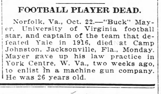 Football Player Dead -