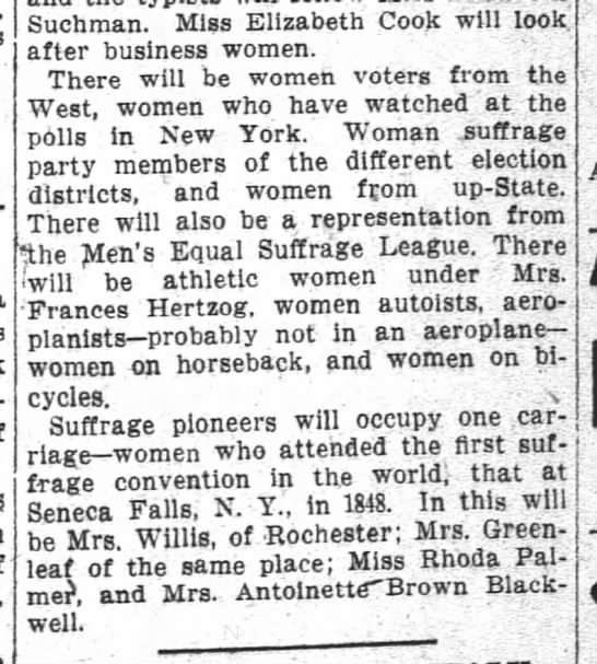1911 03 30 The Washington Post p4 Suffragists -