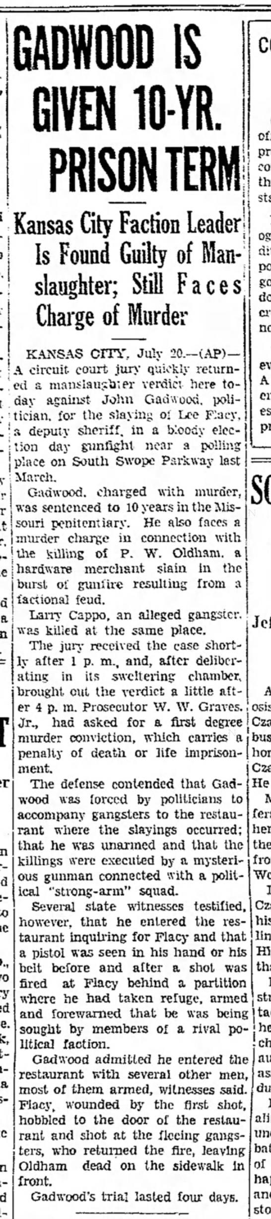 John Gadwood Sentenced -