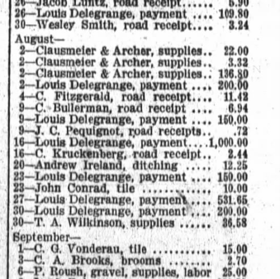 John Conrad 12 Jan 1914 payment for tile -