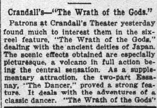 Crandall's The Wrath of The Gods -