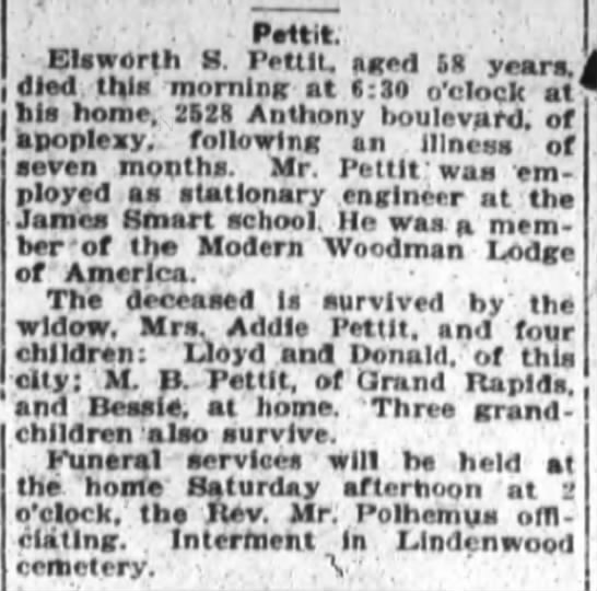 Ellsworth Pettit Death 9-16-1920 -