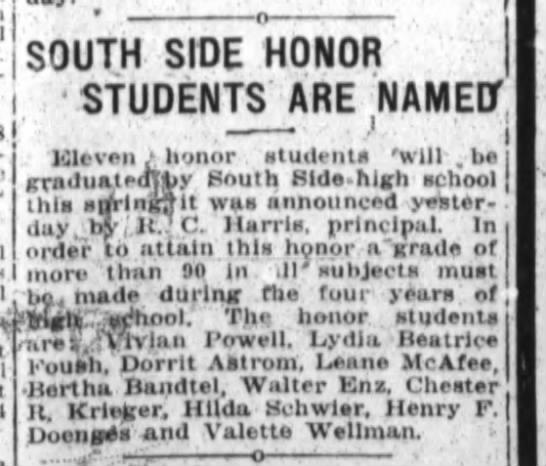 Bertha Bandtel, The Ft.Wayne Journal-Gazette, Sat. May 5, 1923 p.8 -