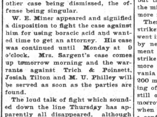 Mrs Sargent to sue Trich & Poinsett -