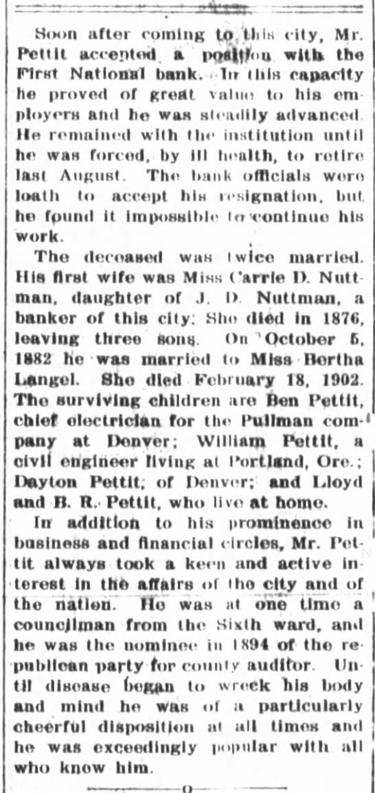 WL Pettit 8-18-1903 -