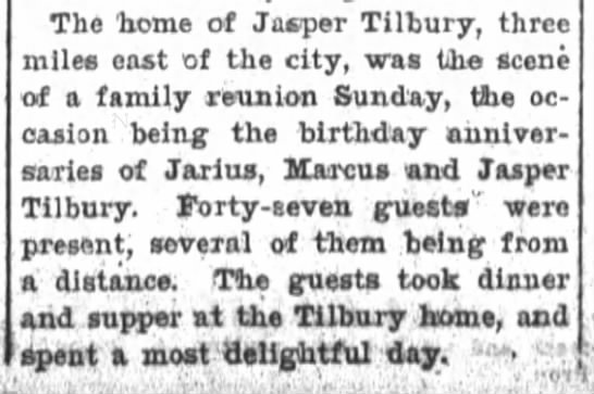 Tilbury family reunion. -