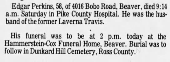 - Edgar Perkins, 58, of 4016 Bobo Road, Beaver,...