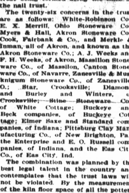 1898 list of SW trust firms -
