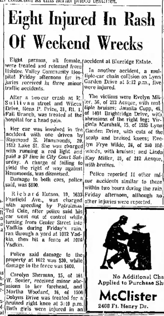Carolyn Sherman, Kingsport Times-News, TN, 31 Jul 1966, p. 18. -
