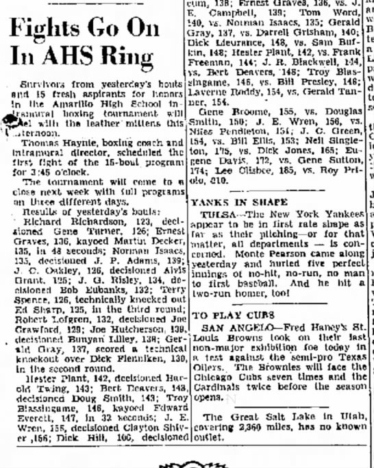 April 4, 1940 Pop won fight, scheduled for another one. -
