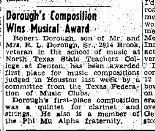 Uncle Robert           Musical award