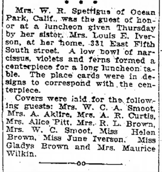 Genevieve Smoot Spettigue
