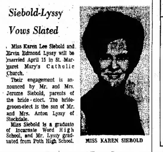 Karen Lee Siebold -