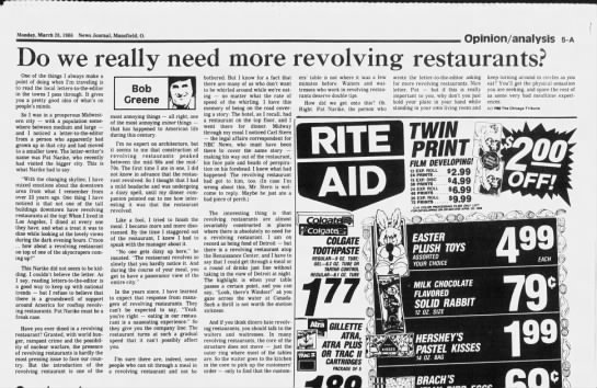 negative comments on revolving restaurants 1988 -