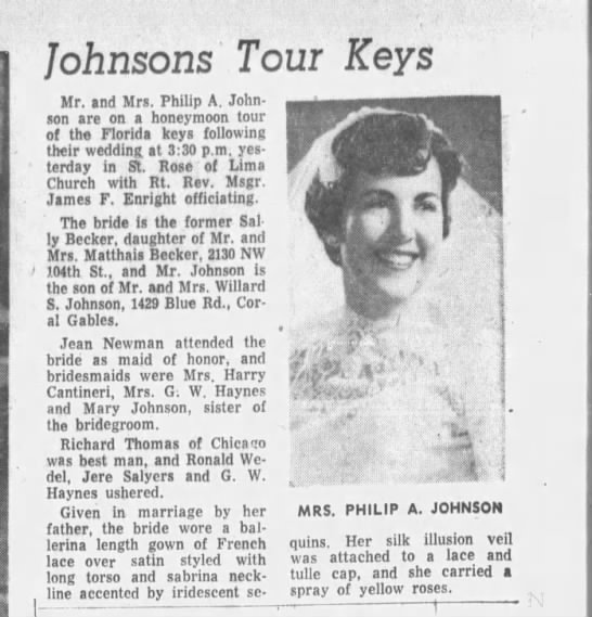 - Johnsons Tom Keys ..;-: Mr. and Mrs. Philip A....