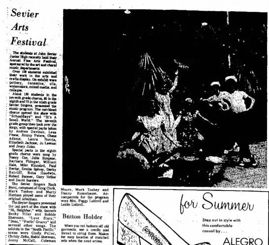 Bobbie Sherman, Kingsport Times-News, TN, 9 May 1971, p. 72. -