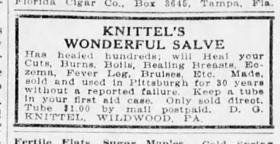 Knittel's Wonderful Salve 4.8.1926 -