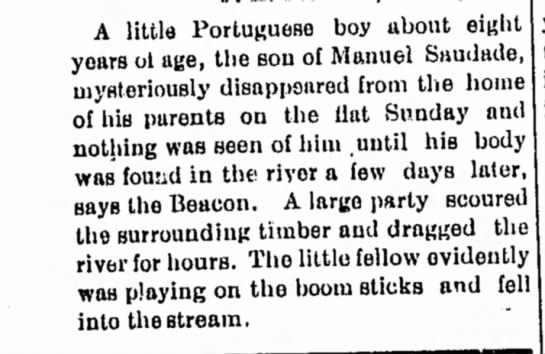 1896 - son of Manuel Saudades found drowned (8) -