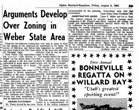 Fred Pusey Zoning Mtg WSC 6 Aug 1965 -