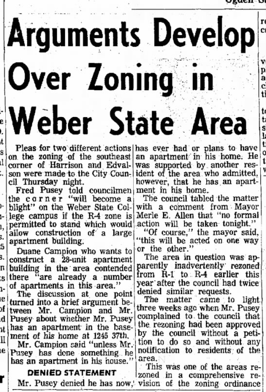 Fred Pusey Zoning Meeting 6 Aug 1965 -