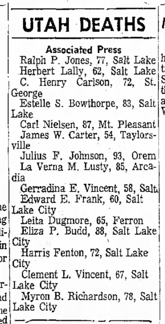 Herbert Lally Death
