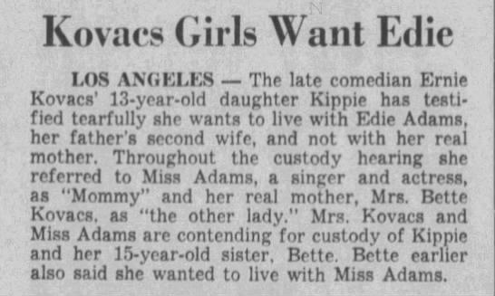Kovacs Girls Want Edie -