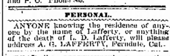 Looking for old LD in 1904 -