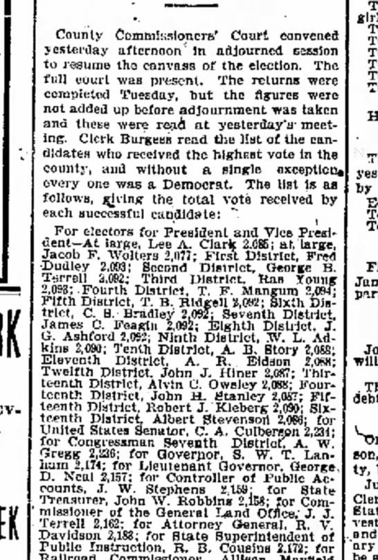 17 Nov 1904 Galveston Texas Jacob Wolters -