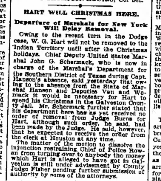 JG Schermack 18Dec1904 Galveston Daily News TX -