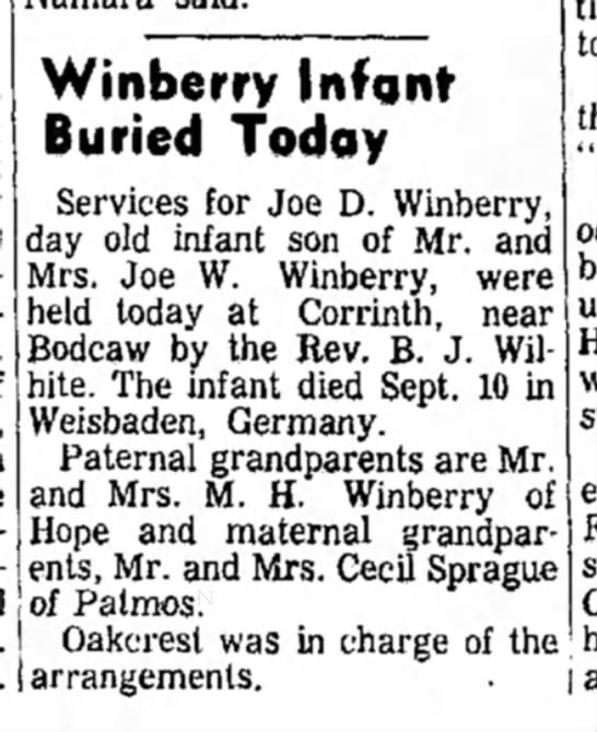 Winberry HS 18 Sept 1964 p1 -