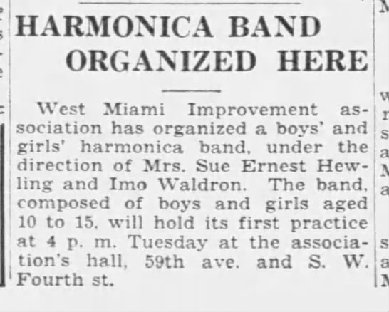 Harmonica Band 1934 -
