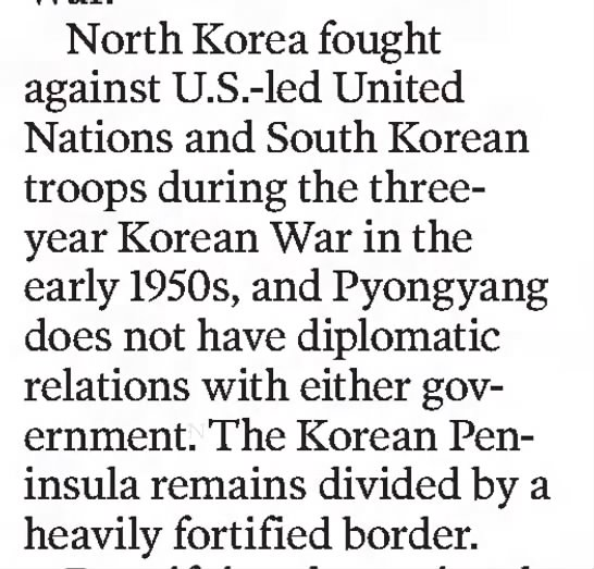 Korean Peninsula Remains Divided -