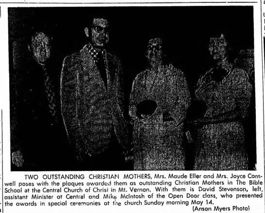 1972 May 18 Joyce Outstanding Christian Mother -