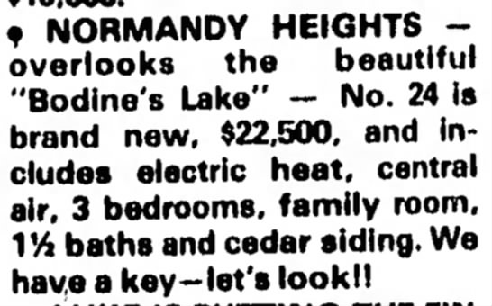 Bodine's Lake Normandy Heights -