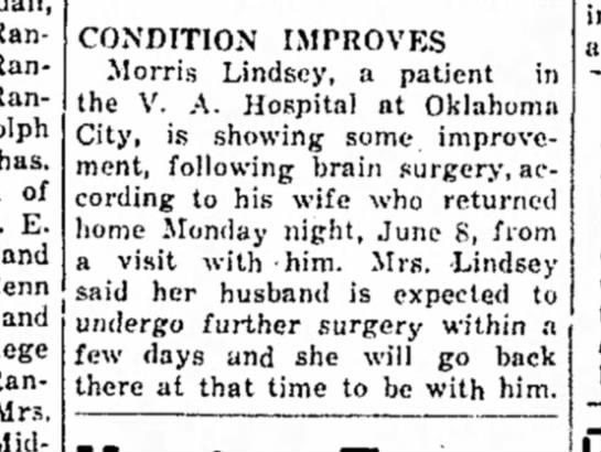 Morris Lindsey Surgery - Randolph, Randolph of E. and and Randolph Mrs....