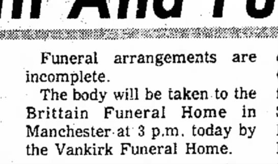 - Funeral, be are Funeral arrangements are...